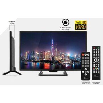 Tv Telesystem Full Hd 1080 Palco22 Led09 Dvb T2/S2 Hevc 10 Bit Senza Lettore Dvd