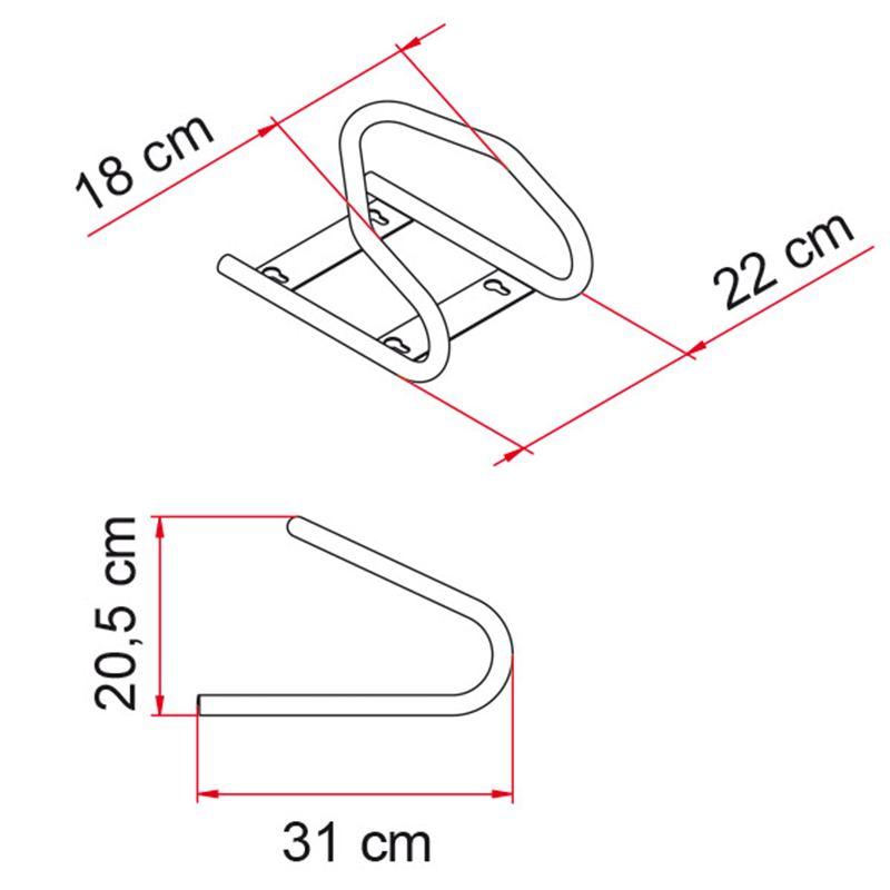 Bloccaruota Fiamma Moto Wheel Chock Front - Bricocamp