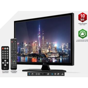 Tv Telesystem Hd Palco19 Led10 Dvb T2/S2 Hevc 10 Bit Senza Lettore Dvd