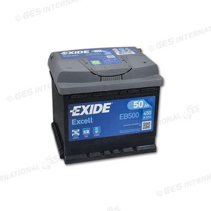 Batteria Exide EB 500 Excell LB3 12V 50 Ah