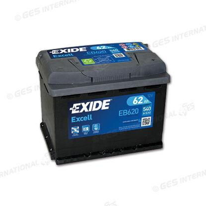 Batteria Exide EB 620 Excell LB3 12V 62 Ah