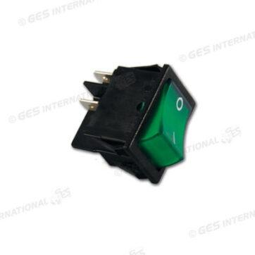 Interruttore luminoso 220V verde