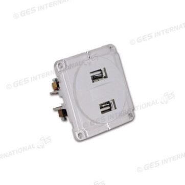 Doppia presa USB 5V 2 A Q10 bianca