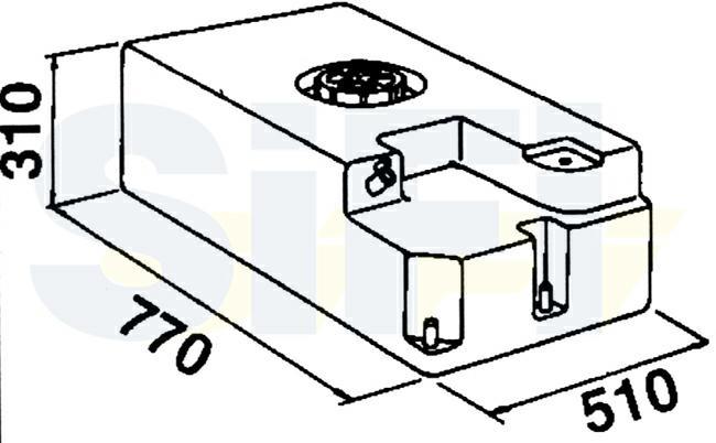 Serbatoio Acqua 110 Litri Bianco con Attacchi di Fissaggio Pompa.