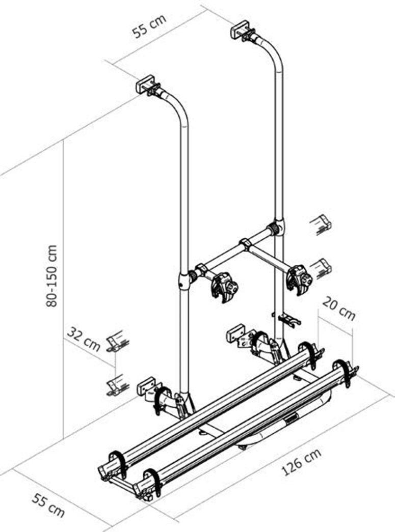 Portabici per Van Thule sport G2 COMPACT