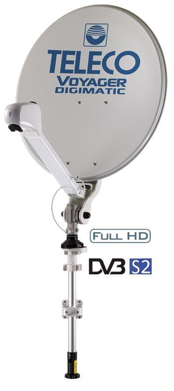 Antenna Satellitare Manuale per Camper Teleco Voyager Digimatic