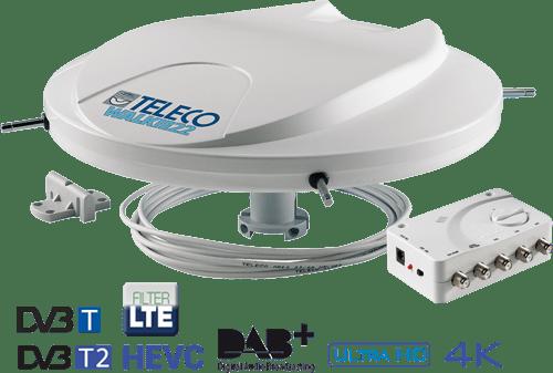 Antenna Digitale Terrestre per Camper Teleco Walkie 22