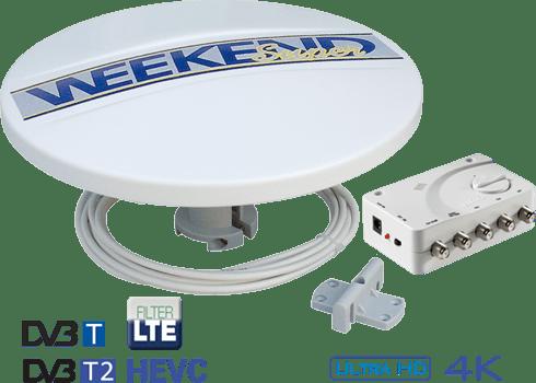 Antenna Digitale Terrestre per Camper Teleco Weekend Super