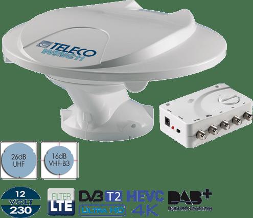 Antenna Digitale Terrestre per Camper Teleco Wing 11