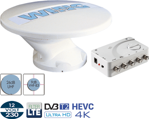 Antenna Digitale Terrestre per Camper Teleco Wing