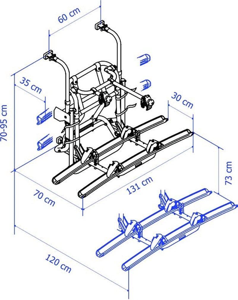 Portabici Thule V16 Manuale