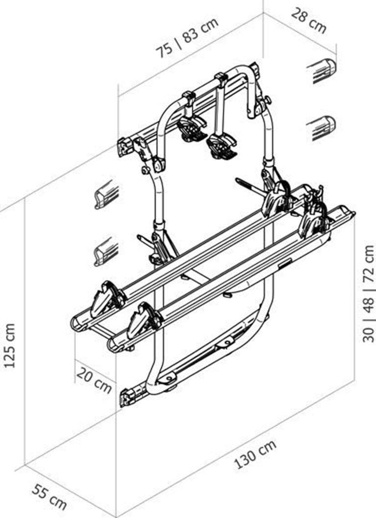 Portabici Thule Elite Van XT Black VW Crafter ≥2017